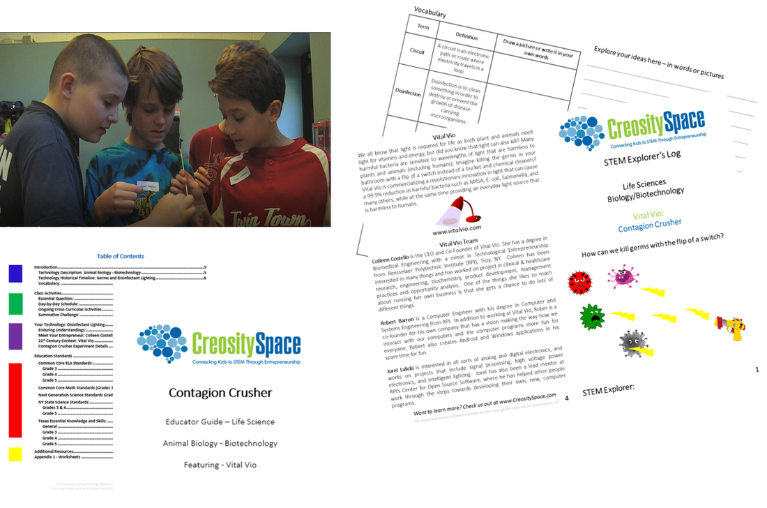 Educator Guide, Student worksheet and student activities - from elementary STEM module
